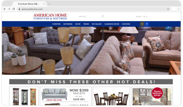 American Home Furniture Homepage
