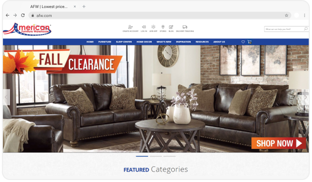American Furniture Warehouse Homepage